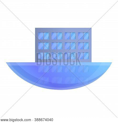 City Flood Icon. Cartoon Of City Flood Vector Icon For Web Design Isolated On White Background