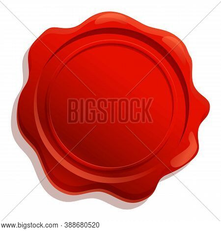 Insignia Wax Seal Icon. Cartoon Of Insignia Wax Seal Vector Icon For Web Design Isolated On White Ba