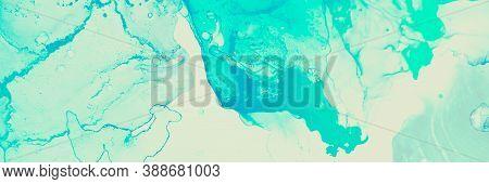 Gradient Wallpaper. Fashion Swirl. Grunge Image. Green, Mint Gradient Wallpaper. Alcohol Ink Splash.