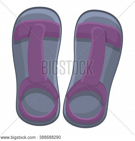 Travel Sandals Icon. Cartoon Of Travel Sandals Vector Icon For Web Design Isolated On White Backgrou
