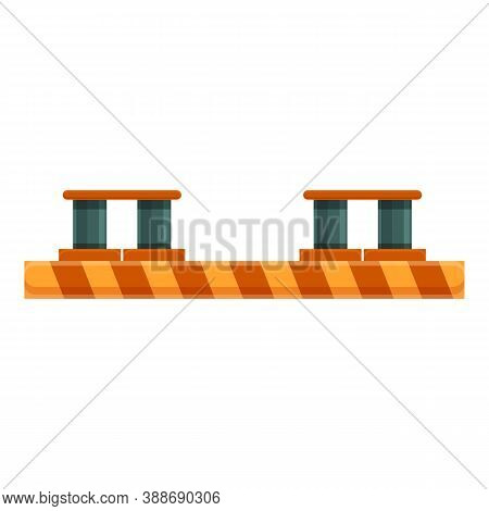 Automative Car Lift Icon. Cartoon Of Automative Car Lift Vector Icon For Web Design Isolated On Whit