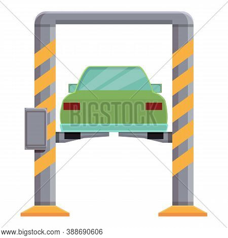 Car Lifting Icon. Cartoon Of Car Lifting Vector Icon For Web Design Isolated On White Background