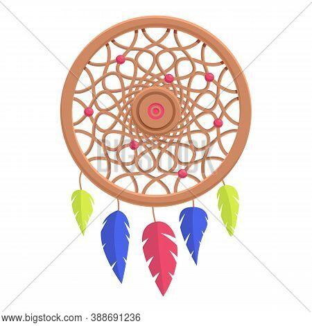 Spirit Dream Catcher Icon. Cartoon Of Spirit Dream Catcher Vector Icon For Web Design Isolated On Wh