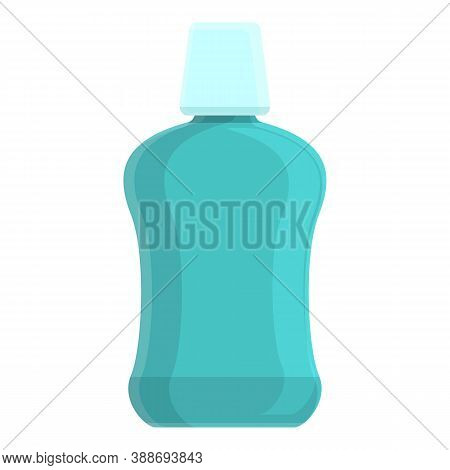 Tooth Mouthwash Icon. Cartoon Of Tooth Mouthwash Vector Icon For Web Design Isolated On White Backgr