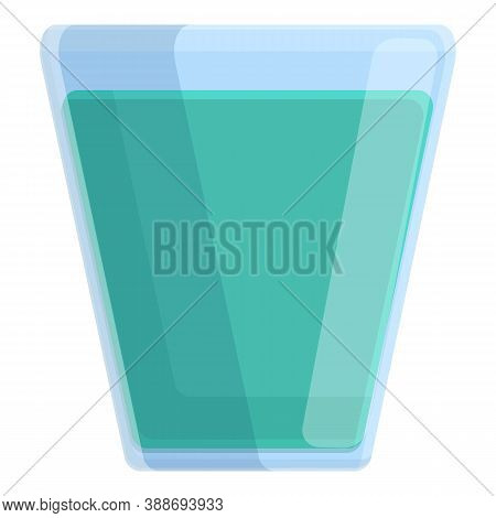 Mouthwash Glass Icon. Cartoon Of Mouthwash Glass Vector Icon For Web Design Isolated On White Backgr