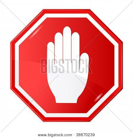 Vector illustration of stop signal sign