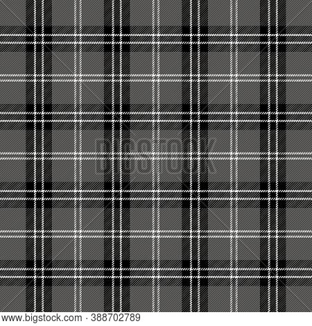 Halloween Tartan Plaid. Scottish Pattern In Black, White And Gray Cage. Scottish Cage. Traditional S