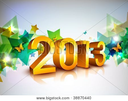 Greeting card or gift card for Happy New Year celebration. EPS 10. poster
