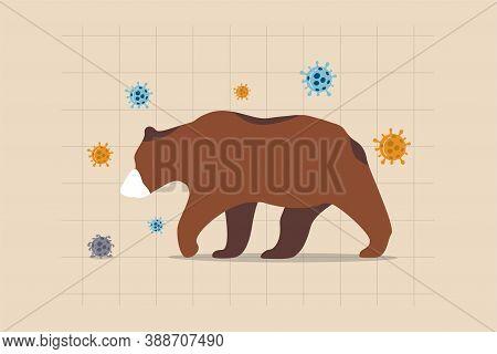Bear Market Causing By Coronavirus Covid-19 World Economic Crisis, Stock Market Crash By Financial C
