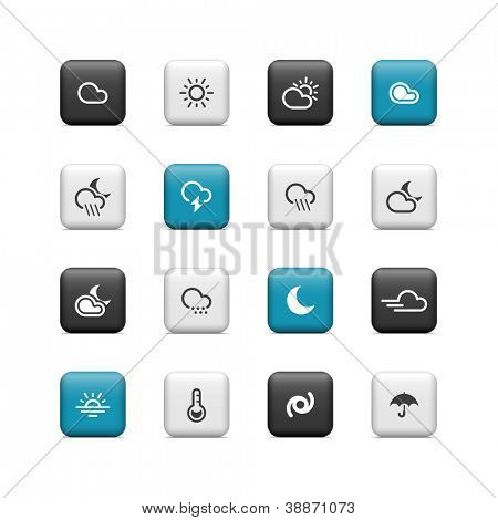 Weather icons. Buttons