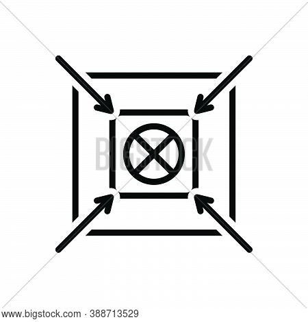 Black Line Icon For Shoot Center Accurate Target Goal Ambition Archery Archer Concentration