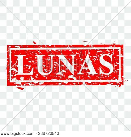 Style Of Rubber Stamp, Lunas, Paid In Indonesia Language, At Transparent Effect Background.