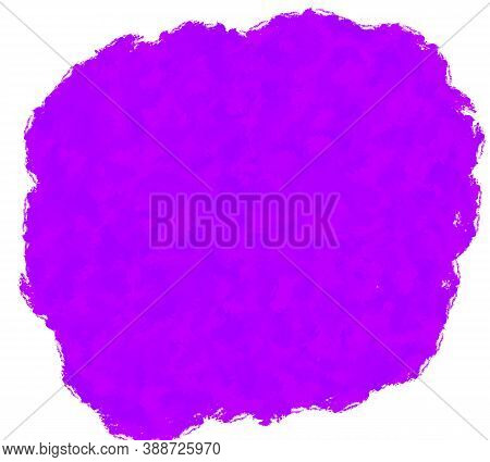 Purple Grunge Brush Strokes Paint Spot Isolated On White Background And Texture. Abstract Art.modern
