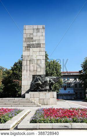 Vidin, Bulgaria - August 16, 2012: Monument To Fallen Soldiers In Vidin Town, Bulgaria. It Commemora