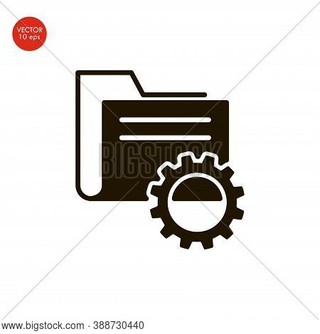 Data Management Icon. Flat Design. Business Concept. Isolated Illustration.