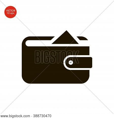 Wallet Icon In Trendy Flat Style Isolated On Grey Background. Wallet Symbol For Your Web Site Design