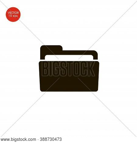 Folder Icon In Trendy Flat Style Isolated On Grey Background. Folder Symbol For Your Web Site Design