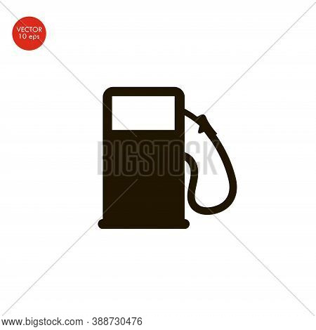 Flat Image Of The Gas Pump Icon. Vector Illustration 10 Eps