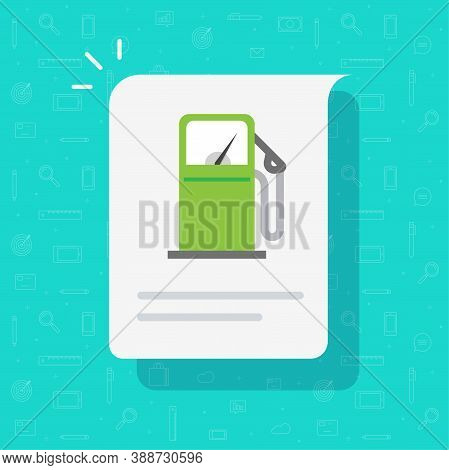 Gas Petrol Station Info Message Notice Or Fuel Refill Data Information Icon Vector, Gasoline Oil Pum