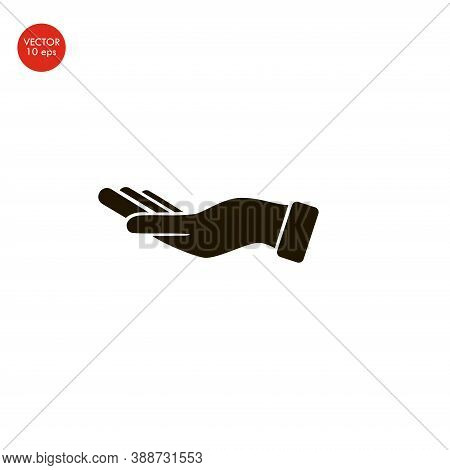 Flat Image Of The Hand Icon . Vector Illustration 10 Eps