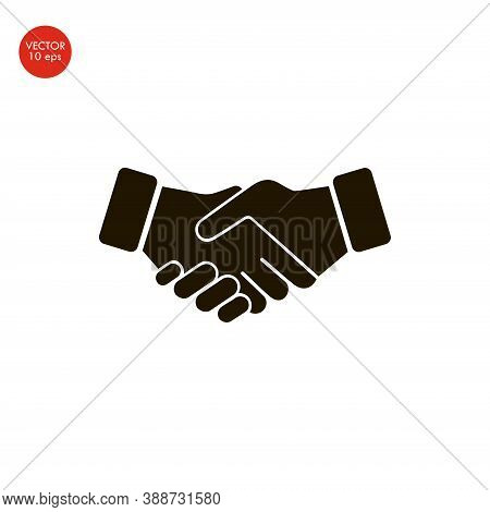 Flat Image Of The Handshake Icon. Vector Illustration 10 Eps