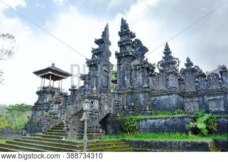 Besakih Temple Located In Karangasem Regency.grand Complex Of Clan Temples And Shrines On The South-
