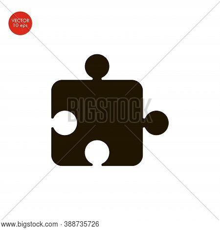 Puzzle Icon Vector, Flat Design Best Vector Icon