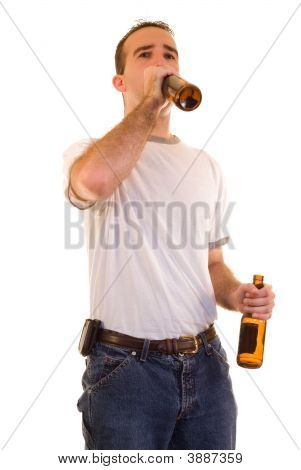 Man Drinking Beer