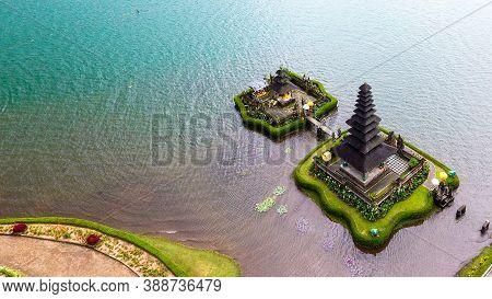 Pura Ulun Danu Bratan Is One Of The Temples In Bali Close To The Lake. Balinese Hindu People Conside