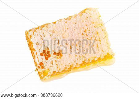 Sealed Honeycomb Isolated On White Background. Apiculture