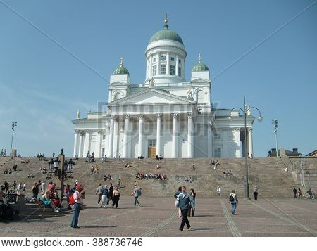 Helsinki, Finland, June 18, 2020. The Assumption Cathedral In Helsinki Is The Cathedral Of The Finni