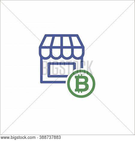 Flat Image Of The Store Icon, Shopping Symbol. Vector Illustration 10 Eps