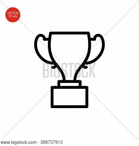 Winning Trophy Or Championship Trophy Line Art Vector Icon For Apps And Websites
