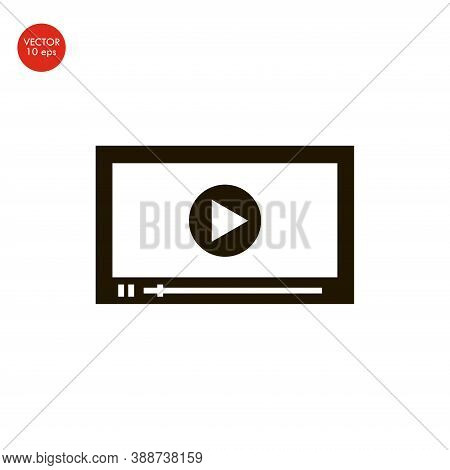 Flat Image Of The Media Player Interface. Vector Illustration 10 Eps