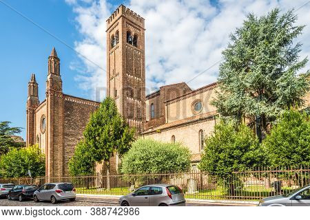 View At The Church Of San Francesco In The Streets Of Mantova (mantua) In Italy