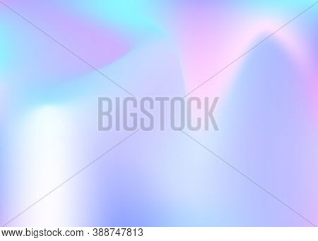 Holographic Abstract Background. Multicolor Holographic Backdrop With Gradient Mesh. 90s, 80s Retro