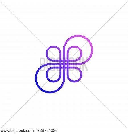 Logo Outline Of A Flower Formed From Infinite Symbols