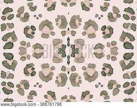 Panther Texture. Camouflage Jaguar Print. Seamless Jungle Textile Design. Fashion Watercolor Pattern