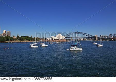 Sydney, Australia - 01 Jan 2019: Bay Harbour In The Heart Of Sydney, Australia