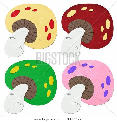 Rice Paper Cut Mushrooms