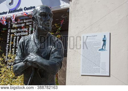 A Statue Of The Dorset Shepherd In Dorchester, Uk, Inspired By A Poem By William Barnes And Created