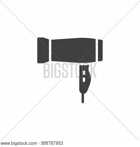 Hair Dryer Vector Icon. Filled Flat Sign For Mobile Concept And Web Design. Blow Dryer Glyph Icon. S