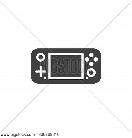 Gamepad Console Vector Icon. Filled Flat Sign For Mobile Concept And Web Design. Handheld Gamepad Gl