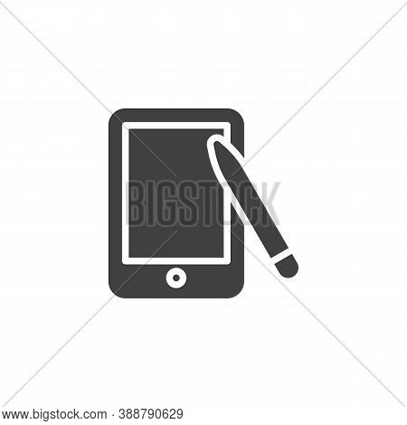 Graphic Tablet Vector Icon. Filled Flat Sign For Mobile Concept And Web Design. Digital Drawing Tabl