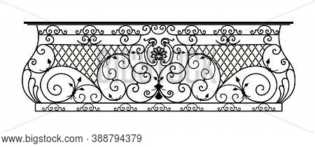 Sketch Of Forged Metal Elements With Antique Ornaments. Artistic Forging Belongs To The Category Of