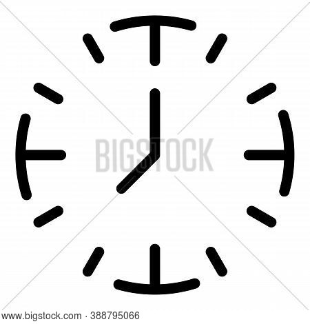 Minute Clock Stopwatch Icon. Outline Minute Clock Stopwatch Vector Icon For Web Design Isolated On W