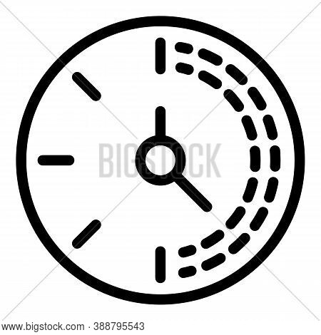 Countdown Stopwatch Icon. Outline Countdown Stopwatch Vector Icon For Web Design Isolated On White B