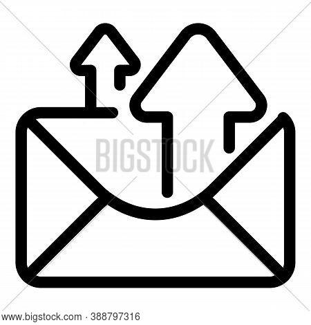 Envelope Sending Icon. Outline Envelope Sending Vector Icon For Web Design Isolated On White Backgro
