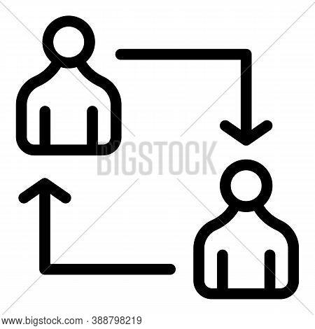 Person Comparison Icon. Outline Person Comparison Vector Icon For Web Design Isolated On White Backg