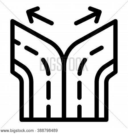 Road Comparison Icon. Outline Road Comparison Vector Icon For Web Design Isolated On White Backgroun